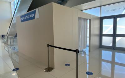 VIDEO: Curaçao Airport Medical Test Area